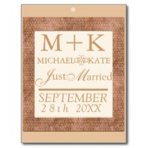 Just Married wedding decor Postcard