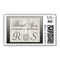 Newlywed Monogram thank you postage