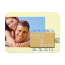 Save the Date magnet spring modern swirl