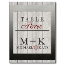 Table no wedding barn wood modern postcards